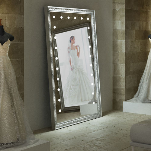 wall-mounted mirror / free-standing / illuminated / living room