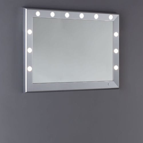 wall-mounted mirror / illuminated / living room / bedroom