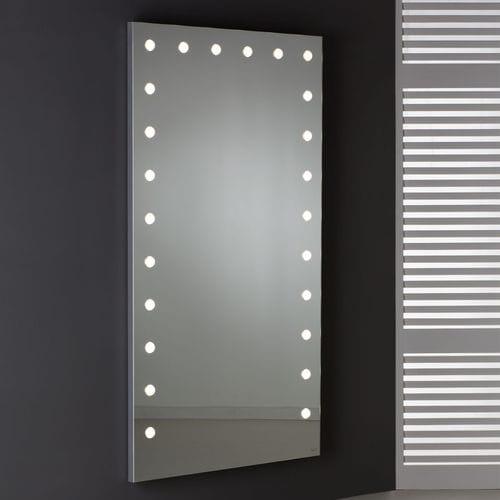 wall-mounted mirror / illuminated / living room / bedroom