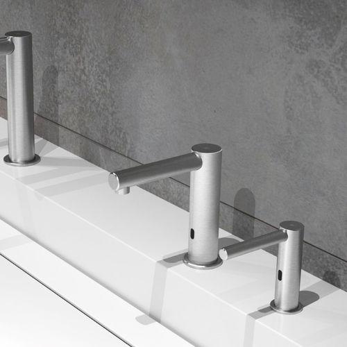 washbasin mixer tap / brass / electronic / bathroom