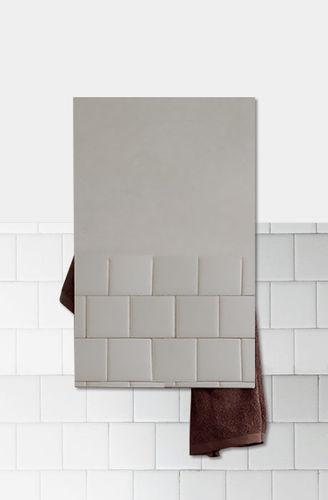 electric towel radiator / aluminum / glass / design
