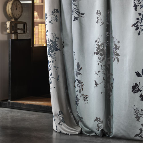 curtain fabric / floral / monochrome / polyester