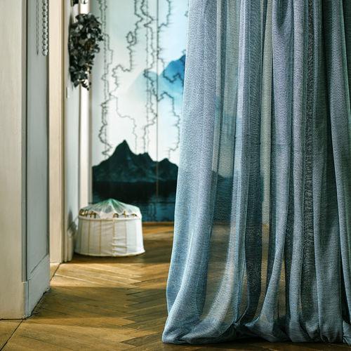 curtain fabric / plain / polyester / washable