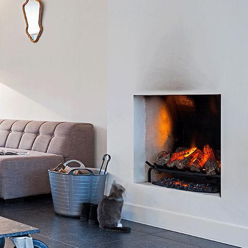 Electric Fireplace Insert Flame Effect Silverton Attika Feuer Ag