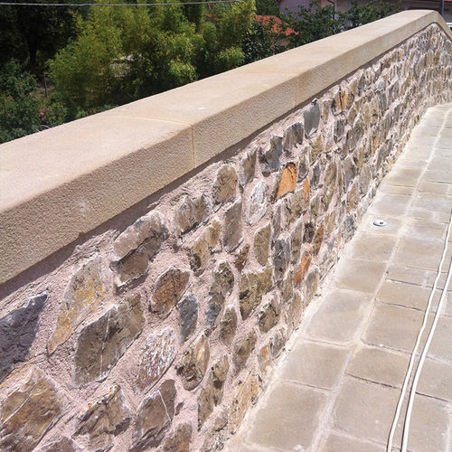 stone wall coping
