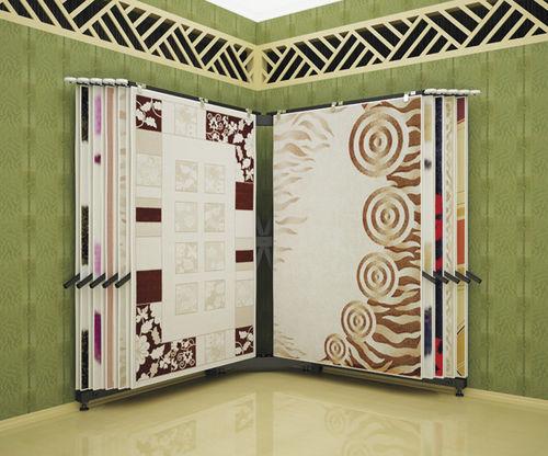 carpet display rack / metal / panel / for shops