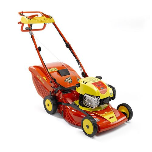 walk-behind lawn mower / gasoline / collecting