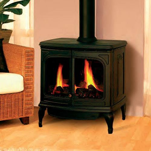 gas heating stove / traditional / cast iron