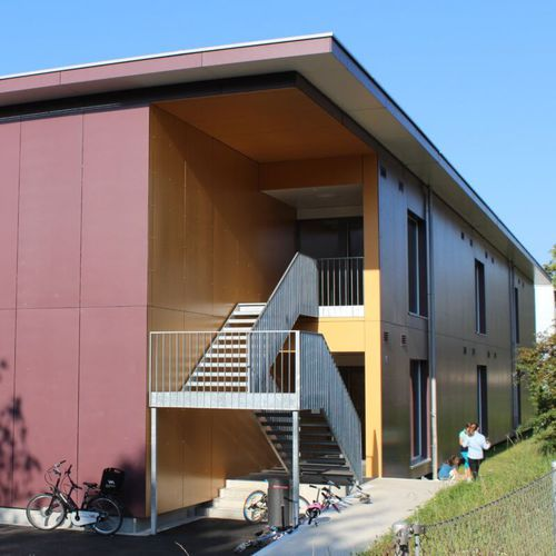 composite cladding / HPL / smooth / lacquered