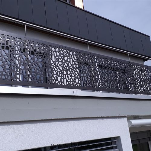 balcony with panels