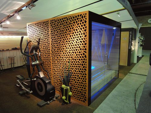 wood fiber cladding / perforated / panel / decorative