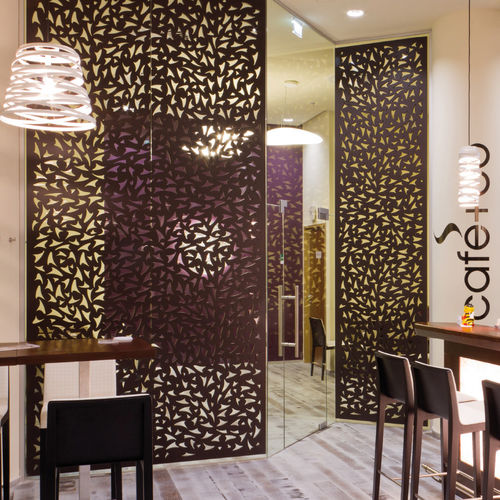 Mdf Decorative Panel Cafe Co Vienna Bruag Ag For Partition Walls Wall Mounted Perforated