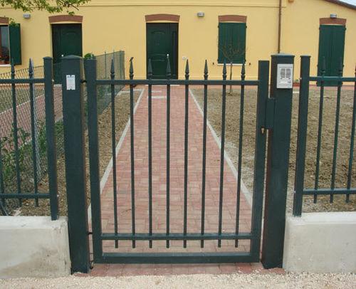 steel garden gate