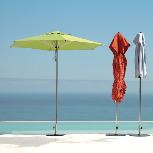 fabric patio umbrella / stainless steel / aluminum