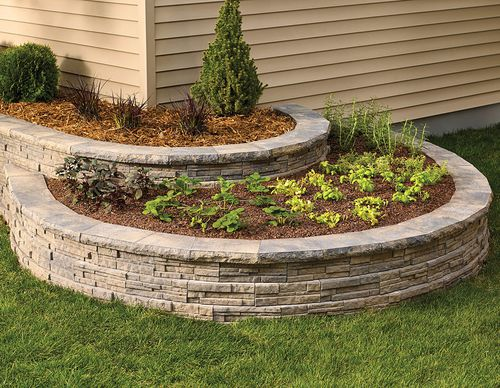 Garden Edge Ledgewall Shaw Brick, How To Build A Stacked Stone Garden Border