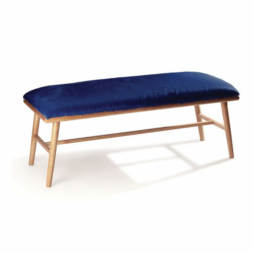standard bench / contemporary / solid wood / leather