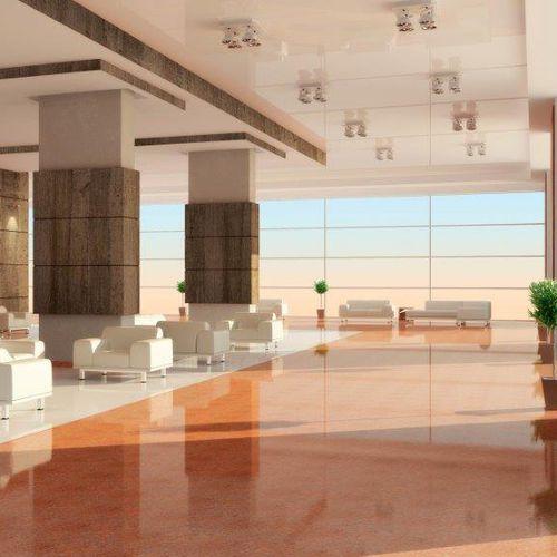 HPL wall cladding panel / interior / high-gloss / textured