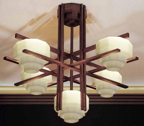contemporary chandelier / fabric / wooden / handmade