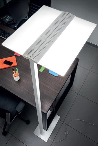 floor-standing lamp / contemporary / steel / extruded aluminum