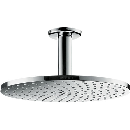 ceiling-mounted shower head / round / rain