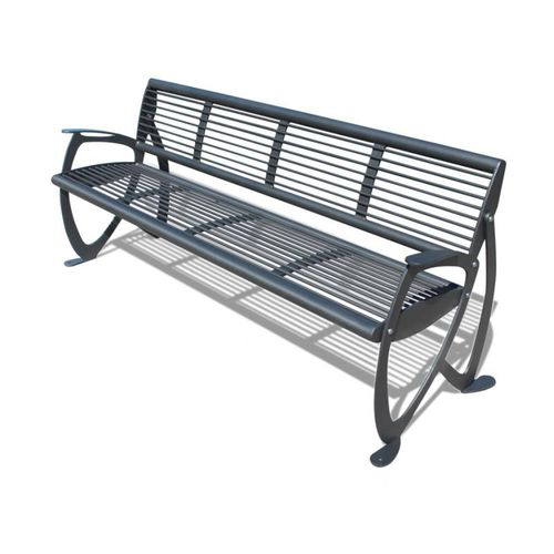 public bench / contemporary / steel / with backrest