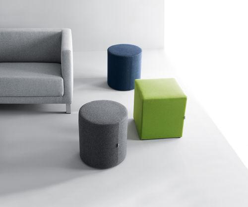contemporary pouf / fabric / square / round