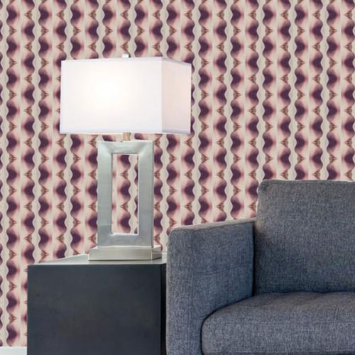 traditional wallpaper / vinyl / polyester / striped
