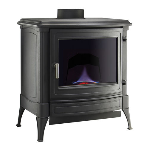 oil heating stove / traditional / cast iron