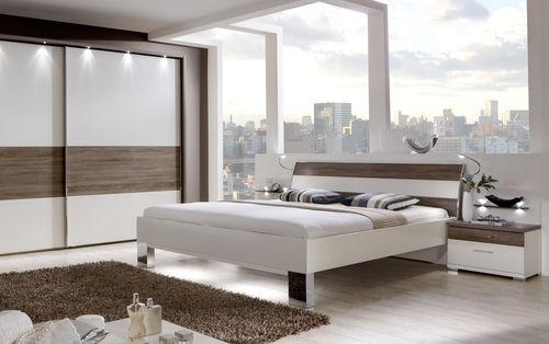 double bed / contemporary / oak / 160x200 cm