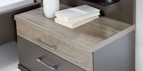 contemporary bedside table / wooden / with drawer