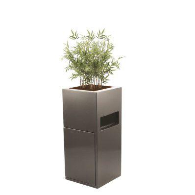 composite planter / square / with trash can / contemporary