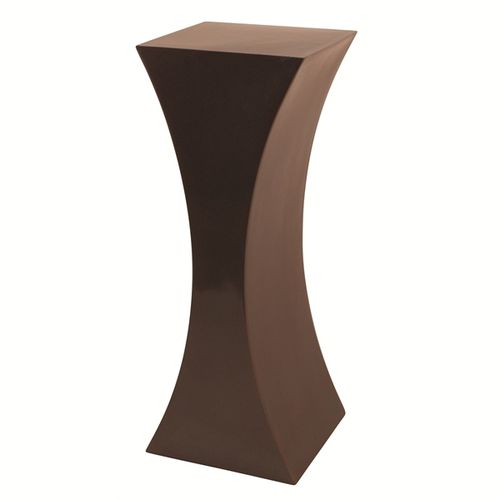 contemporary pedestal / metal / garden