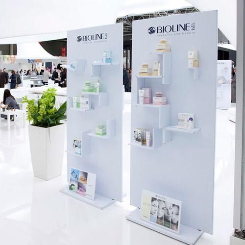 clothing display rack / beauty product / laminate / panel