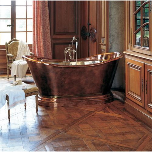 Oval Bathtub 0711 Herbeau Free Standing Professional Copper