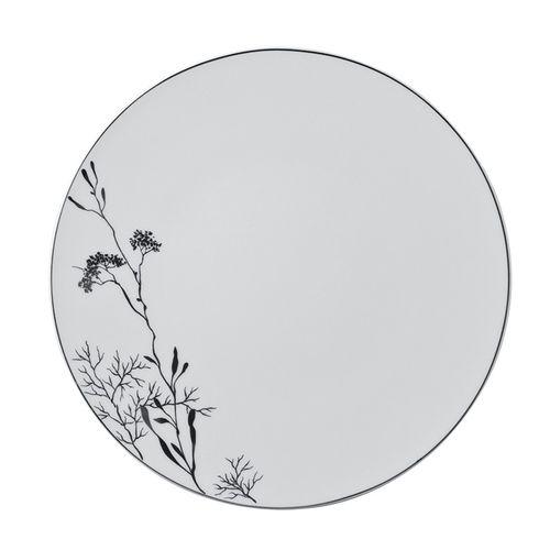 dinner plate / round / porcelain / commercial