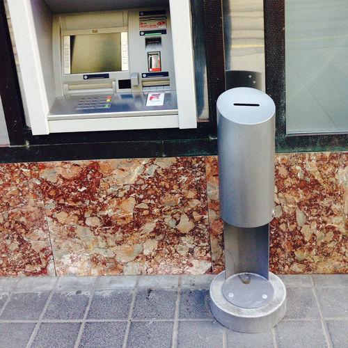 public trash can / steel / galvanized steel / stainless steel