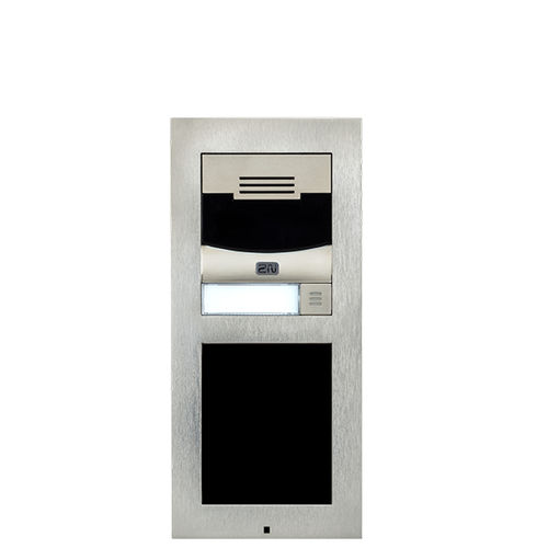 vandal-proof door station / with camera / with proximity reader / modular