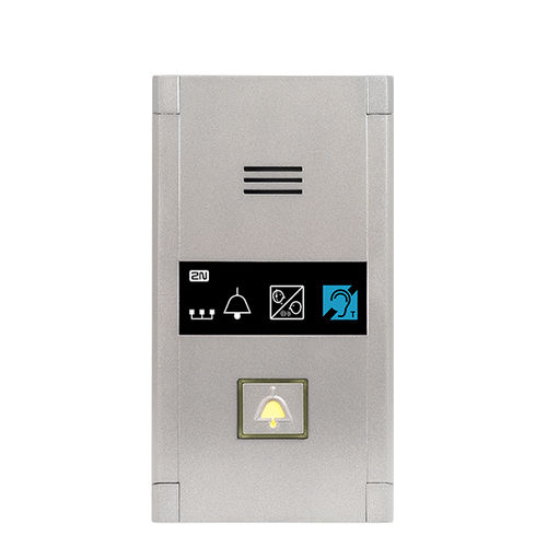 emergency door intercom system / for elevators / metal