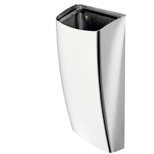 hygienic trash can / wall-mounted / stainless steel / contemporary