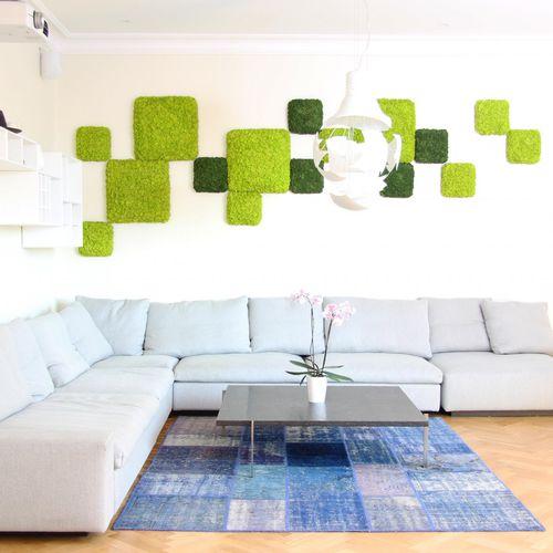 moss living frame / natural / indoor / modular-panel