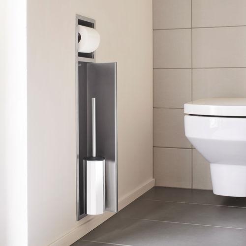 built-in toilet roll holder