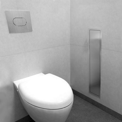 built-in toilet paper dispenser / stainless steel / commercial