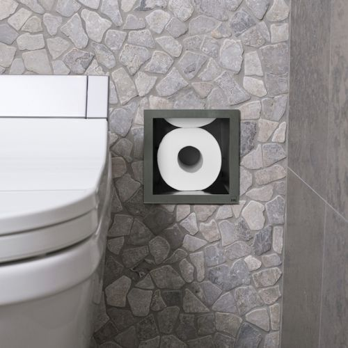 built-in toilet roll holder