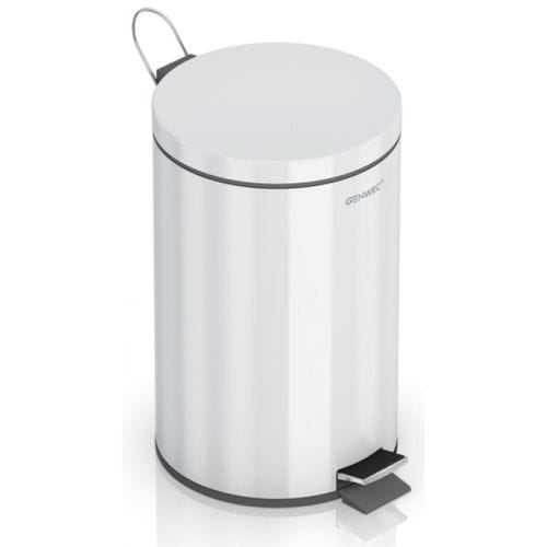 hygienic trash can / steel / contemporary / foot-operated