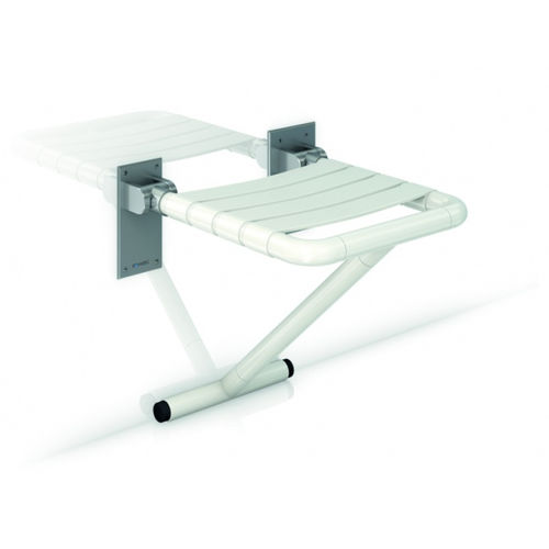 folding shower seat / wall-mounted / nylon / stainless steel