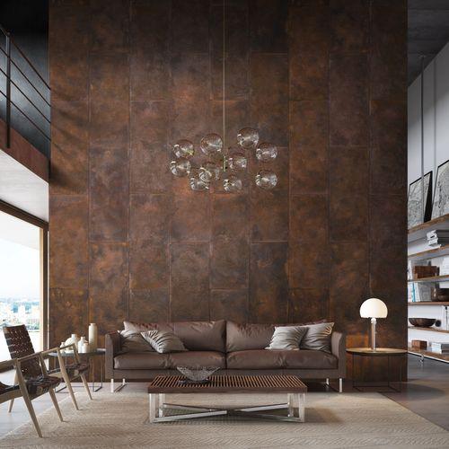 Interior wall-covering - CORTEN - Castelatto - exterior / concrete /  textured