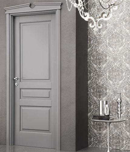 indoor door / swing / solid wood / with fixed leaf