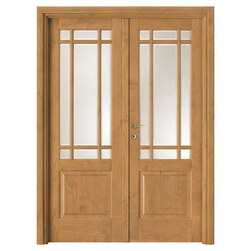 indoor door / swing / solid wood / oak