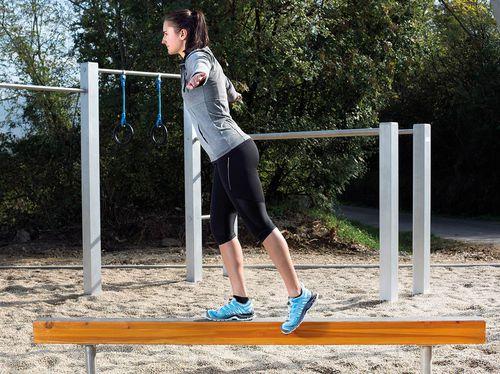 fitness trail balance beam