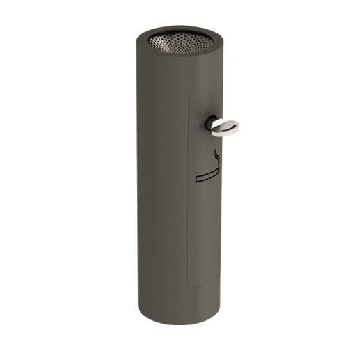 pedestal ashtray / sheet metal / for outdoor use / for public spaces